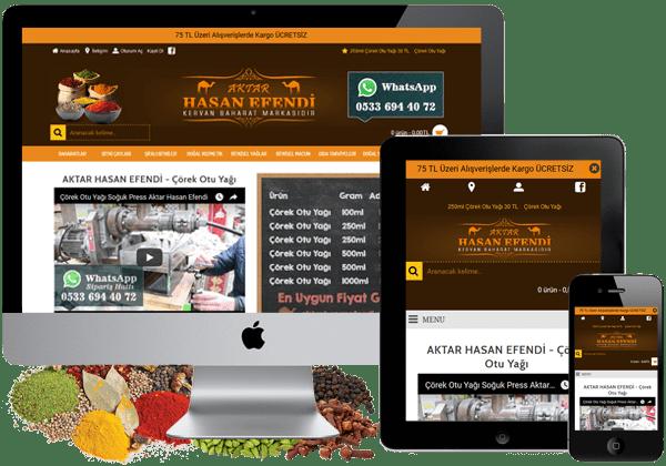 Aktar Hasan Efendi Eticaret Sitesi Tasarımı