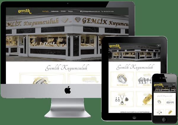 Gemlik Kuyumculuk Web Tasarım