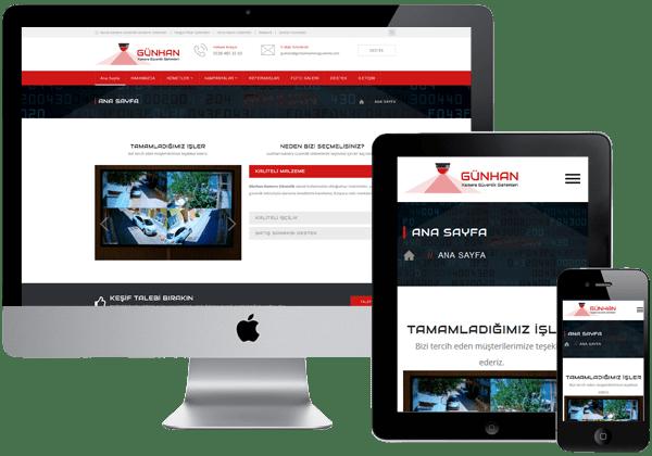 Günhan Kamera Güvenlik Web Tasarım
