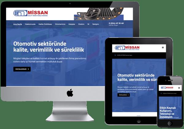 Missan Kalıp Kurumsal Web Sitesi Tasarımı
