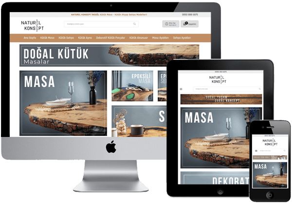 Naturel Konsept Eticaret Sitesi Tasarımı
