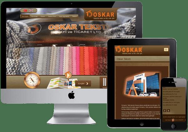 Oskar Tekstil Web Tasarım