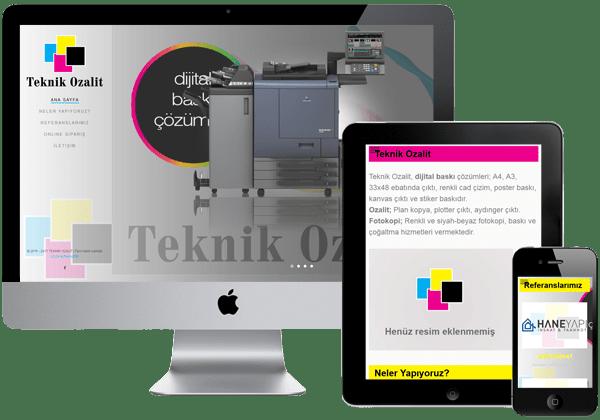 Teknik Ozalit Web Tasarım