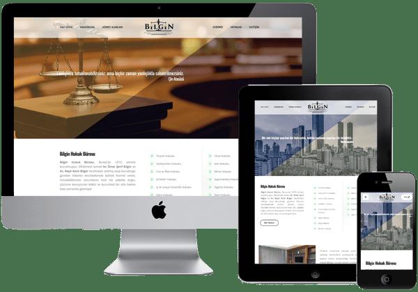 Bilgin Hukuk Bürosu Web Tasarım